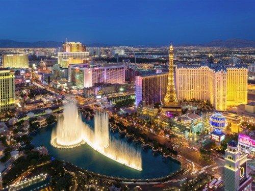 Las Hotel Photo Vegas - LAS VEGAS SKYLINE GLOSSY POSTER PICTURE PHOTO strip nevada casino hotels lv
