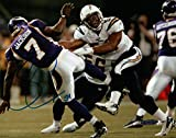 Stephen Cooper Signed 8X10 Photo Autograph Chargers Tackling Auto UDA Upper Deck