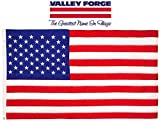 Valley Forge, American Flag, Cotton, 3' x 5', 100% Made in USA, Sewn Stripes, Embroirdered Stars, Heavy-Duty Brass Grommets