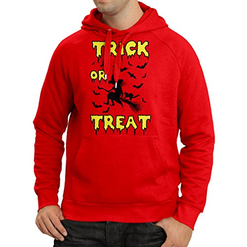 lepni.me Hoodie Trick or Treat - Halloween Witch - Party outfites - Scary Costume (X-Large Red Multi Color) -