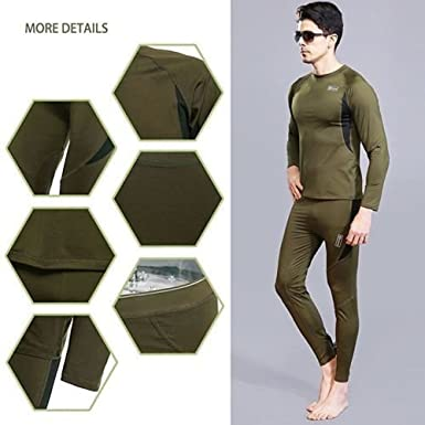ainr WomensThermal Winter Base Layering Tops and Bottoms Pajama Underwear Set