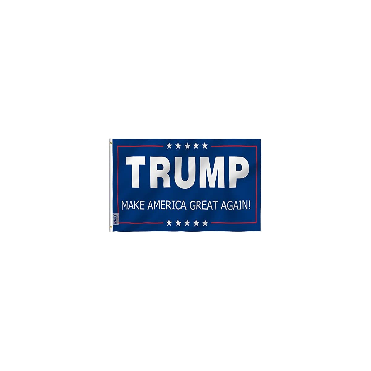 Anley Fly Breeze 3×5 Foot Donald Trump Flag – Vivid Color and UV Fade Resistant – Canvas Header and Double Stitched – The 45th U.S. President Flags Polyester with Brass Grommets 3 X 5 Ft
