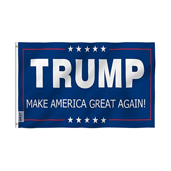 Anley-Fly-Breeze-3×5-Foot-Donald-Trump-Flag-Vivid-Color-and-UV-Fade-Resistant-Canvas-Header-and-Double-Stitched-The-45th-US-President-Flags-Polyester-with-Brass-Grommets-3-X-5-Ft