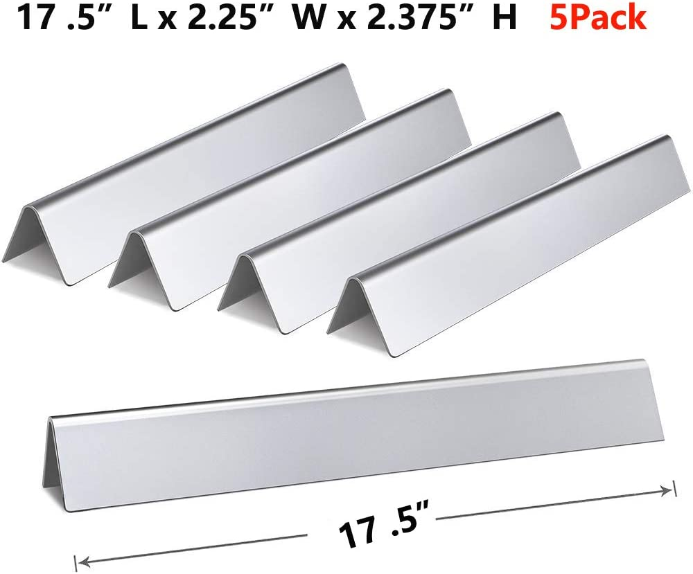 EP330 E330 E320 5-Pack Stainless Steel Flavor Bar Replacement for Weber 7620//7621 E310 EP310 GasSaf 17.6 inch Flavorizer Bar Replacement for Weber Genesis 300 EP320 S330 with Up-Front Control
