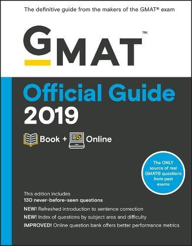 GMAT Official Guide 2019: Book + Online (Official Book Guide)