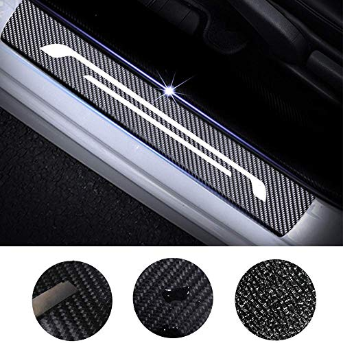 Maite For CHRYSLER Hybrid/PT Cruiser/Pacifica/Sebring 4Pcs Door Sill Scuff Plate Welcome Pedal Protect Carbon Fiber Stickers Car Accessories Scratch Protector