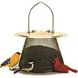 No/No Brass Finish Original Bird Feeder with Roof Extension B00302