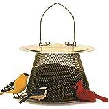 No/No Brass Finish Original Bird Feeder with Roof Extension B00302