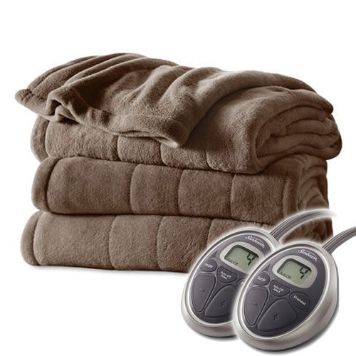 Sunbeam Channeled Velvet Plush Electric Blanket Black Friday Deals