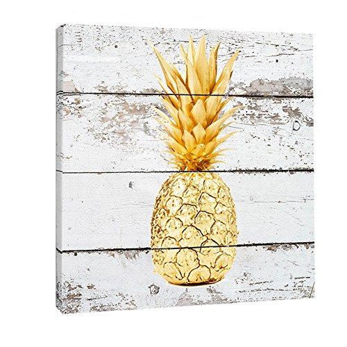 K-Road Pineapple Canvas Prints Framed Wall Art Vintage Painting