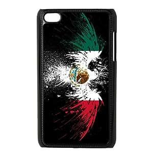 iPod Touch 4 Case Black Mexico Flag CBVNDEA02885