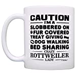 Dog Lover Gifts for Women Crazy Rottweiler Lady Dog Mom Dog Owner Gift Coffee Mug Tea Cup White 7