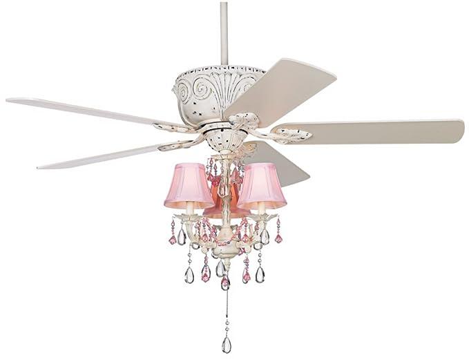 Casa Deville Pretty In Pink Pull Chain Ceiling Fan