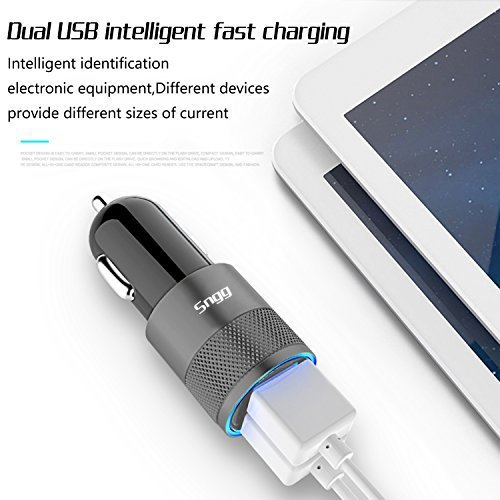 Sngg Car Charger,3.1A Rapid Dual Port USB Car charger for iPhone/ iPad / Samsung. by Sngg (Image #2)