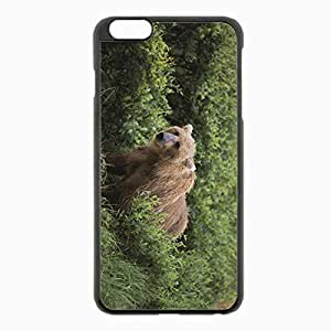 iPhone 6 Plus Black Hardshell Case 5.5inch - grass gait Desin Images Protector Back Cover