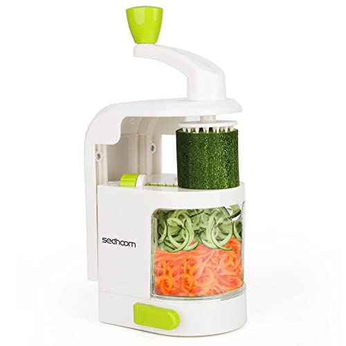 Spiralizer 4-Blade Vegetable Spiralizer Sedhoom Heavy Duty Spiral Slicer Zucchini Noodle & Veggie Pasta & Spaghetti Maker for Low Carb/Paleo/Gluten-Free Meals