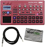 Korg ELECTRIBE2SRD Electribe Sampler in ESX Red with V2.0 Software w/ Geartree Cloth and Cable