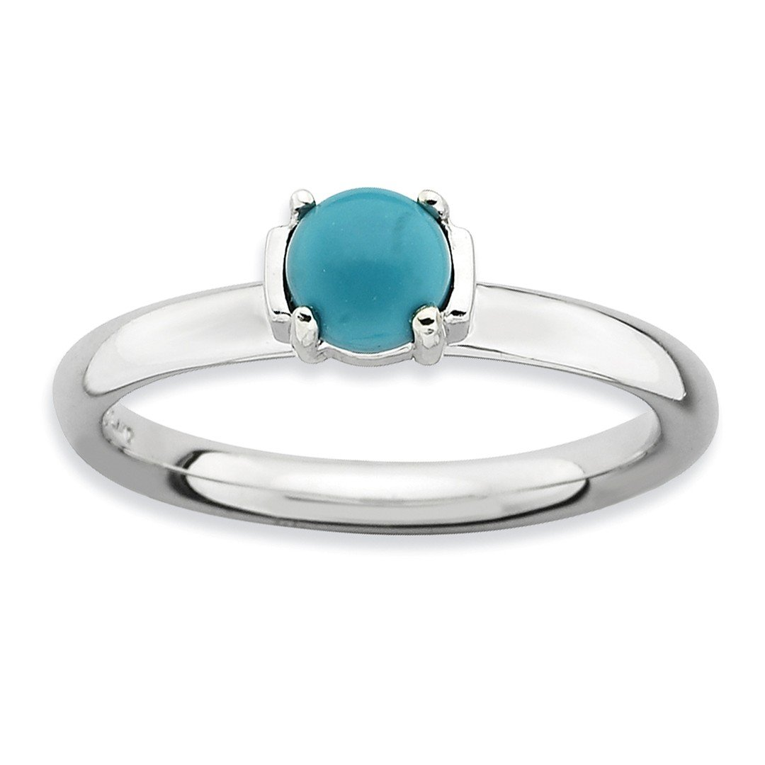 ICE CARATS 925 Sterling Silver Blue Turquoise Band Ring Size 8.00 Stone Stackable Gemstone Natural Tiger Eye Fine Jewelry Ideal Gifts For Women Gift Set From Heart