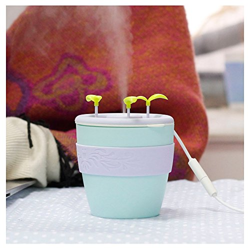 Ceramics Anion Potted Plant Humidifier Portable premium stylish Cute Bear Ultrasonic USB Powered Humidifier for Office Single Room (Anion Ceramic)