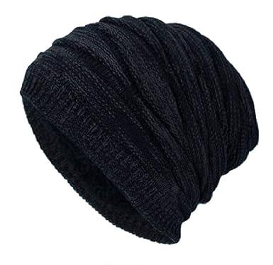 b13856cd7e8 heekpek Man Baggy Slouchy Fleece-Lined Beanie Hat