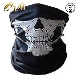 Onairmall Pack of 2 Black Seamless Skull Face Tube Mask