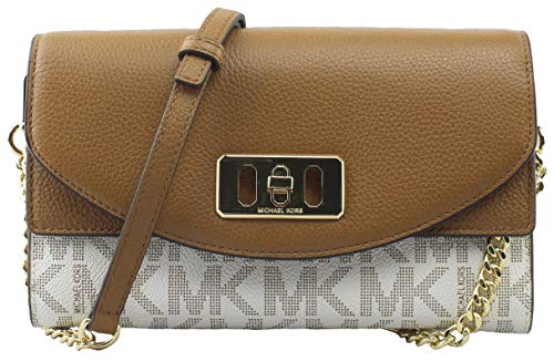 Michael Kors Karson Wallet Clutch Leather Vanilla/Acrn (35T8GKRC7B)
