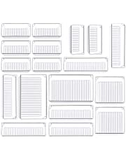$22 » Kootek 18 Pcs Desk Drawer Organizer Trays 4-Size Bathroom Drawer Tray Dividers Plastic Vanity Organizers Storage Bins for Makeup Dresser Kitchen Office