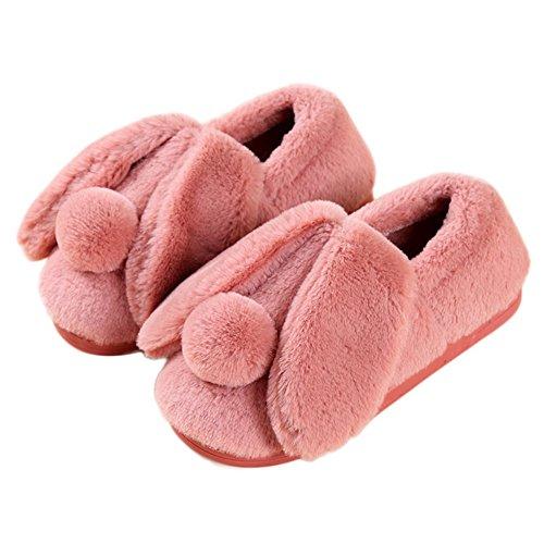 Le Donne Di Cybling Adorabile Fumetto Morbido Soffice Pantofole Di Casa Foderato Di Pelliccia Scarpe Calde Antiscivolo Marrone