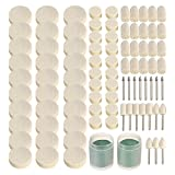SODIAL 90Pcs Soft Felt Polishing Buffing Clean Wheel Kit for Rotary Tools