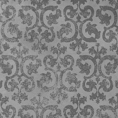 3dRose lsp_151434_2 Grunge Gray Damask Silver Grey Faded Antique Vintage Swirls Wallpaper Fancy Swirling Pattern Double Toggle Switch