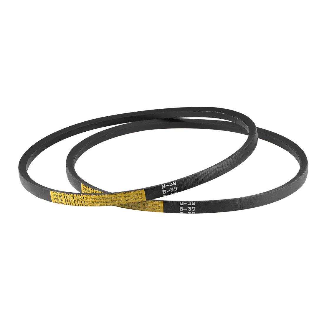 B-Section Rubber Drive Belt 2pcs uxcell B34 V-Belts 34 Pitch Length