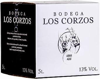 Oferta amazon: Bag in Box 5L Vino Tintos Recomendado (Equivalente a 6,5 Botellas de 750 ml) vino tinto afrutado caja de vino con grifo de Bodegas Los Corzos