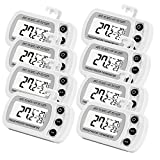 8 Pack Digital Refrigerator Freezer Thermometer,Max/Min Record Function with Large LCD Display