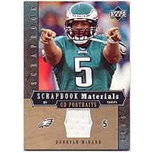 Donovan McNabb 2005 UD Portraits Scrapbook Materials Game Worn Jersey #SB-DM - Philadelphia Eagles