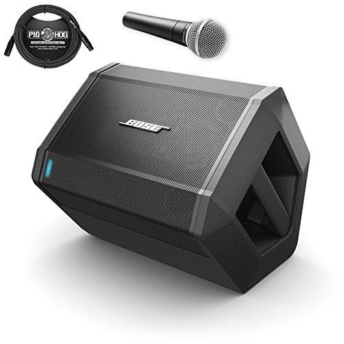 Bose S1 Pro Multi-Position PA System w/ SM58 Vocal Mic & B&W XLR Cbl 20ft