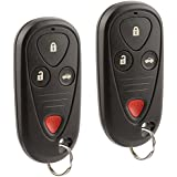 Car Key Fob Keyless Entry Remote fits 2004-2006 Acura TL / 2004-2008 Acura TSX (OUCG8D-387H-A, 72147-SEC-A02), Set of 2