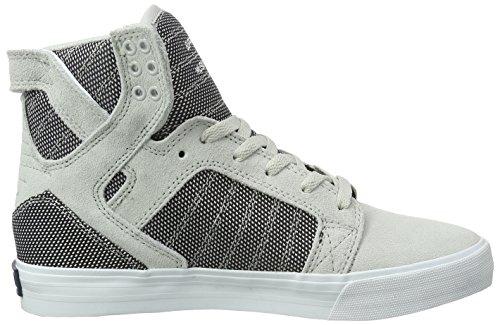 Supra Skytop Medium Sneaker Grau Violett Zweifarbig / Weiß