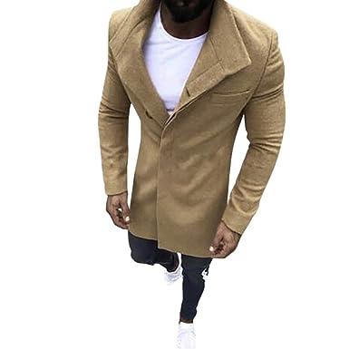 Acquista Giacca Da Uomo Di Moda Cappotto Di Lana Inverno Trench Outwear Cappotto Giacca A Maniche Lunghe Giacca A Vento T Shirt Da Uomo Lungo In Lana