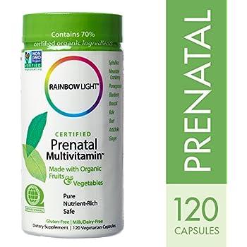 Rainbow Light - Certified Prenatal Multivitamin, 120 Count, Probiotics, Folic Acid