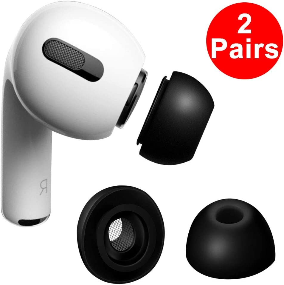 LiZHi Compatible with Airpods Pro Tips,Replacement Ear Tips Soft Silicone Headphone eartips for Airpods 3/Airpods Pro (M, White)