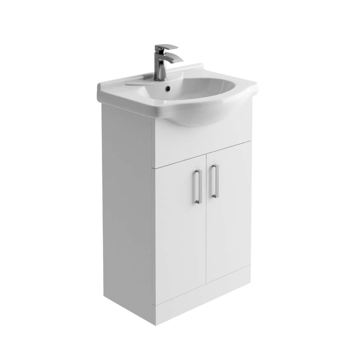 Denver Gloss White WC Toilet Unit Includes Concealed Cistern 50cm