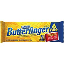 BUTTERFINGER CHOCOLATE CANDY BARS SNACK TIME SIZE 6 CT