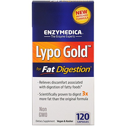 Enzymedica, Lypo Gold, For Fat Digestion, 120 Capsules - 3PC by Enzymedica