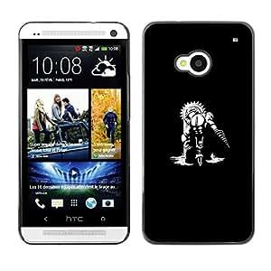 Be Good Phone Accessory // Dura Cáscara cubierta Protectora Caso Carcasa Funda de Protección para HTC One M7 // Big Daddy