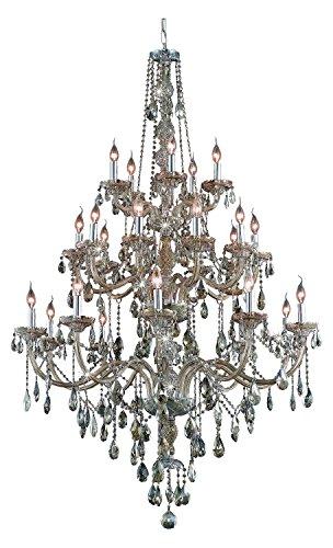 (Royal Cut Smoky Golden Teak Crystal Verona 25-Light, Three-Tier Crystal Chandelier, Finished in Golden Teak with Smoky Golden Teak Crystals)