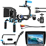 Neewer Film Movie Video Making System Kit with F100 7-inch 1280x800 IPS Screen Field Monitor and 11.8inch Aluminum Alloy Articulating Magic Arm for Canon Nikon Sony DSLR Cameras Video Camcorders