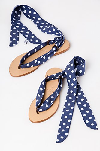 Sandalen Frauen Sommerschuhe. Ribbon Schuhe Hochzeit Schuhe. Frühlingsstrand Sandalen für Mädchen Dark blue peas