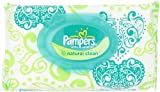 Pampers Natural Clean Wipes 1x Travel Pack 72 Count  (Pack of 8)