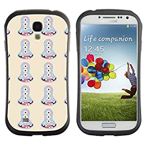 DesignCase Premium TPU / ABS Hybrid Back Case Cover Samsung Galaxy S4 IV i9500 ( weird monster )