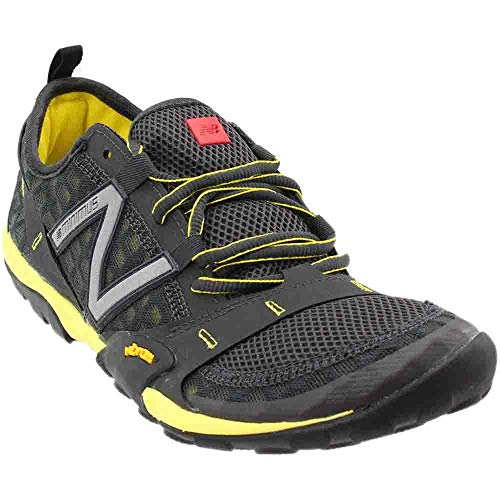 New Balance Mens Minimus 10v1 Low Top Lace Up Running, Grey/Yellow, Size 9.0
